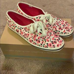Kate Spade x Keds rose print sneakers
